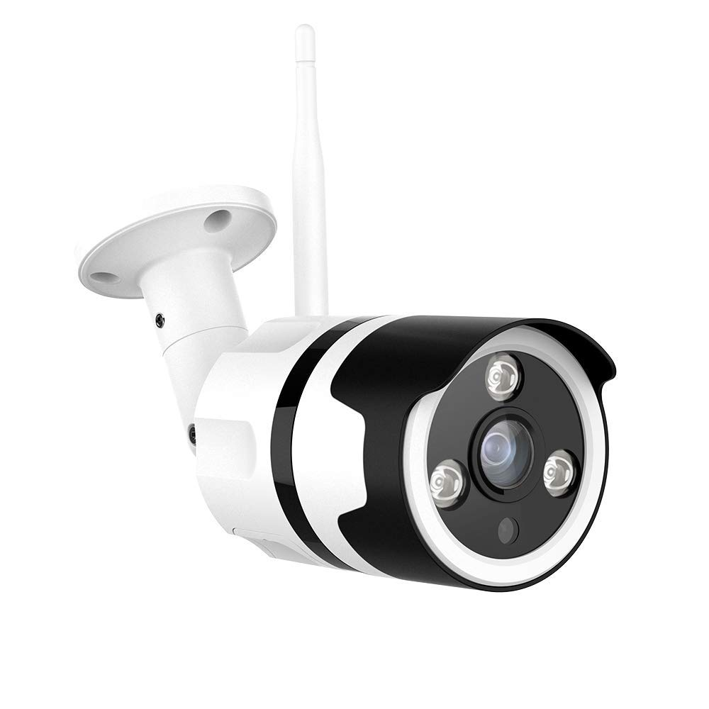 Outdoor Security Camera, 1080P Outdoor Surveillance Cameras with FHD Night Vision, Motion Detection, Two-Way Audio, IP66 Waterproof, Wired or WiFi Outdoor Camera, Cloud Storage (Updated Version)