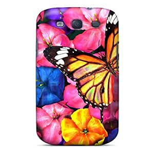 Wade-cases Premium Protective Hard Case For Galaxy S3- Nice Design - Wow Colorful In Spring