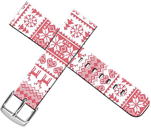 Bands For Iwatch 42mm Sport - ENDIY Compatible Designer Fashionable Strap Replacement For Apple Watch Series 1 2 3 42mm Women Sport Xmas Christmas Theme Design Pattern Red Christmas Reindeer