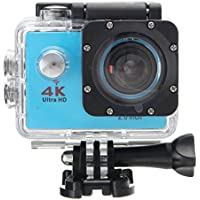 Rambly Waterproof 4K Wifi HD 1080P Ultra Sports Action Camera DVR Cam Camcorder (Blue)