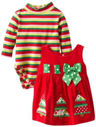Two Piece Newborn Christmas Tree Outfit for Girls
