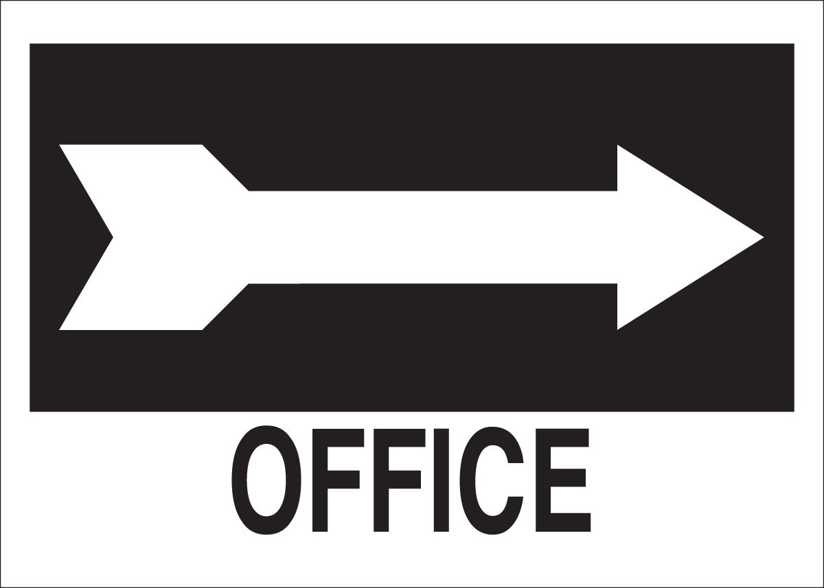 with Picto Brady 22465 Plastic Directional Sign Legend Office 10 X 14 Legend Office with Picto 10 X 14