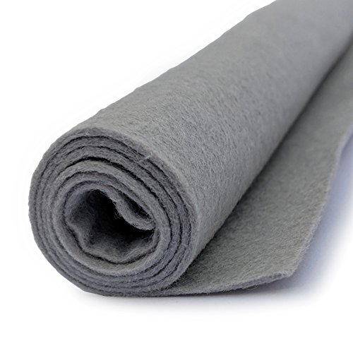 Silver Gray - Wool Felt Giant Sheet - 35% Wool Blend - 1 36x36 inch XXL Sheet