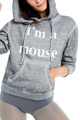 Wildfox I'm A Mouse Cuddles Mouse Hoodie - Heather - XS by Wildfox