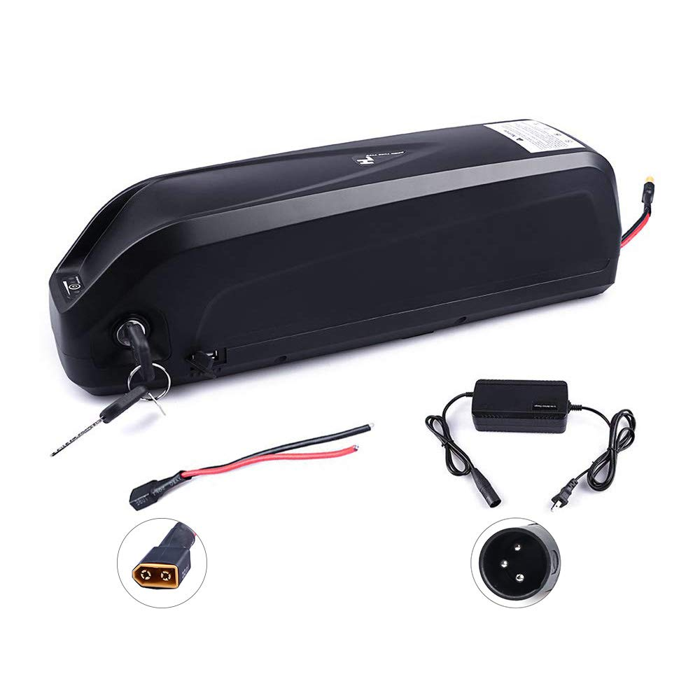 Junstar Electric Bike Battery 48V 11.6Ah Lithium Ion Battery with Samsung Cells Hailong 48V Ebike Battery for 48V 250W/350W/500W/750W/1000W Battery with Charger