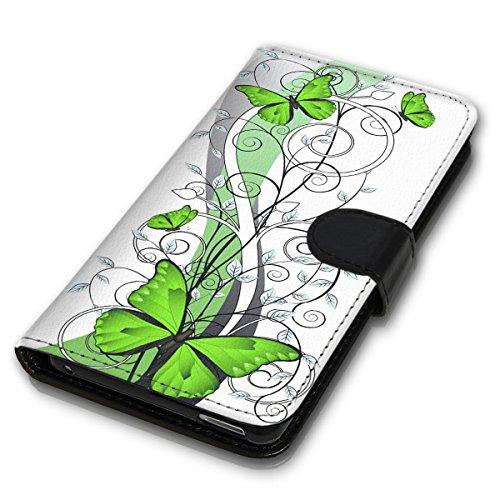 Wallet Book Style Flip Handy Tasche Case Schutz Hülle Schale Motiv Etui für Apple iPhone 5 / 5S - Design Flip MVD433