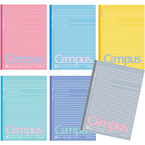 - Kokuyo Campus Todai Series Pre-Dotted Notebook, Semi B5 Pre-Dotted-Line 30 Sheets - 60 Pages, Limited Sorbet Colors 6 Notebooks (7mm)