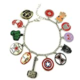 Classic Marvel Characters Theme Multi Charms Lobster Clasp Bracelet in Gift Box