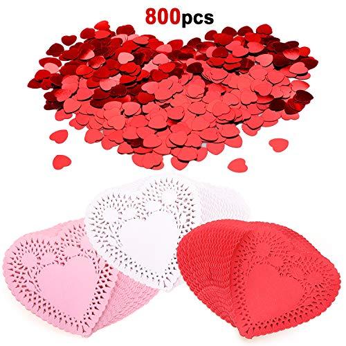 Konsait 800 Count Mini Valentine Heart Doilies 4Inch