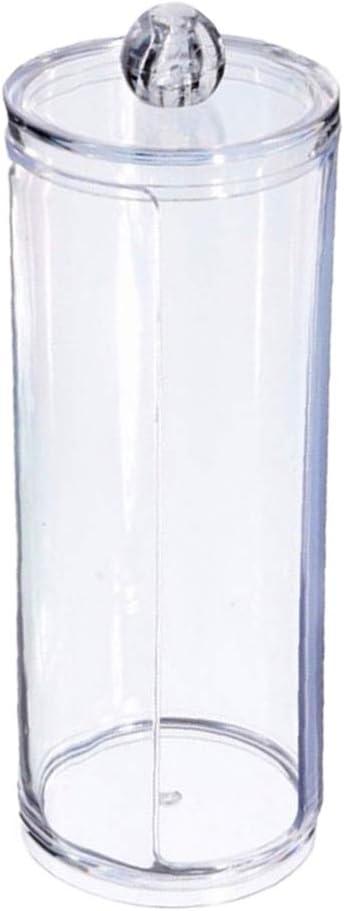 DaoRier Acrylique Boite /à Coton Tiges Holder Box Bo/îte de Rangement Bo/îte de Rangement Maquillage Cosm/étique pour Tous Vos Cosm/étiques Style Artistique Transparent