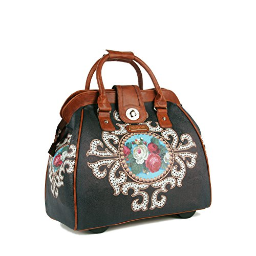 Nicole Lee Cheri Rolling Business Tote, Rose Pearl, One - Tote Wheeled 16