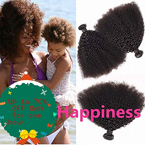 BODHI TREE Afro Kinkys Curly Hair Bundles Unprocessed Virgin Hair Kinky Curly Human Hair Afro Kinkys Bulk Human Hair for Black Women Natural Color(10 10 10)