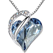 Leafael [Presented by Miss New York Infinity Love Made with Swarovski Crystals Heart Pendant Necklace, Silver-Tone, 17
