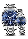 AESOP Lovers Watches Women Men Couple Automatic Mechanical Wrist Wristwatch Waterproof Clock (blue)