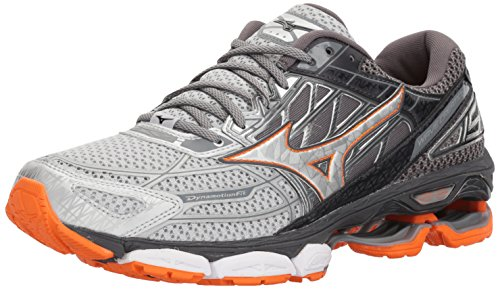 Mizuno Men's Wave Creation 19 Running Shoe, Silver/Diamond, 12.5 D US