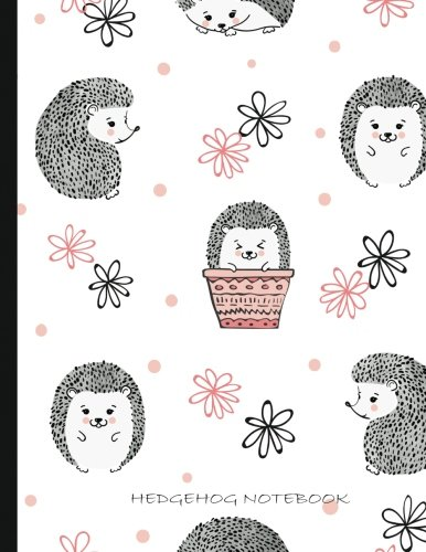 Hedgehogs Notebook: Lined Hedgehog Notebook, Large 8.5 x 11, 125 pages (Cute Notebooks)