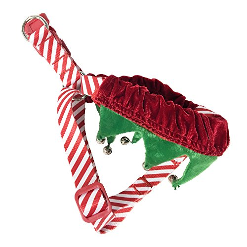 Bow & Arrow Pet Christmas Dog Costume, Elf Costume Harness for Dogs, (Large Dog Elf Costume)