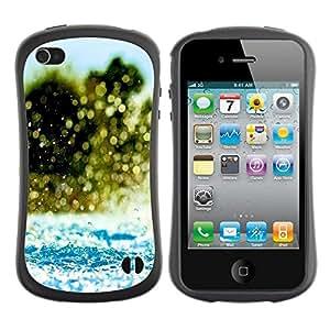 "Hypernova Slim Fit Dual Barniz Protector Caso Case Funda Para Apple iPhone 4 / iPhone 4S [Agua Splash""]"