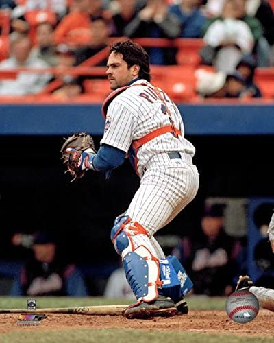 MLB Mike Piazza New York Mets Action Photo