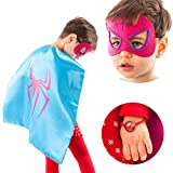 Toys Best Deals - LAEGENDARY Superhero Costumes for Kids - 4 Capes and Masks - Glow Wonder Woman - Girls Toys - Birthday Gifts and Party Supplies for Kids