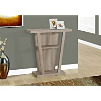 Monarch Hall Console Accent Table, 32, Dark Taupe