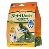 Nylabone Nutri Dent Complete Natural Dino Dental Dog Treats, Small, 34 Count Review