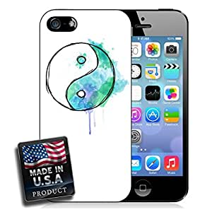 Yin and Yang Drip Watercolor Drawing Painting iPhone 5/5s Hard Case by lolosakes
