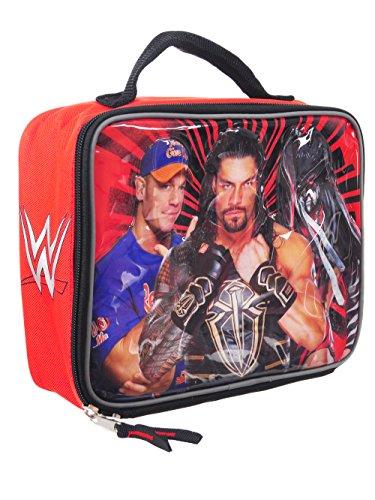 WWE Lunch Box Soft Kit Insulated Cooler Bag John Cena Roman Reigns Finn Balor -