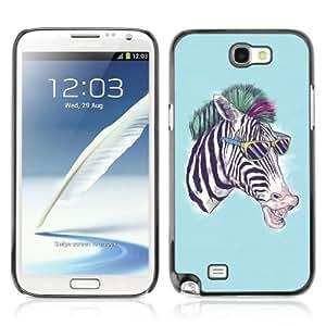 YOYOSHOP [Cool Zebra] Samsung Galaxy Note 2 Case WANGJING JINDA