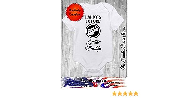 Daddy/'s Future Bass Playing Buddy Baby Onesie