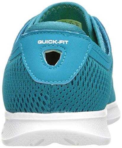 Womens Skechers Andare Passo Lite-persistenza Sneaker Verde Acqua