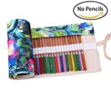 Kaariss Canvas Pencil Wrap Pencil Roll Organizer Case 72 slots Deal (Small Image)