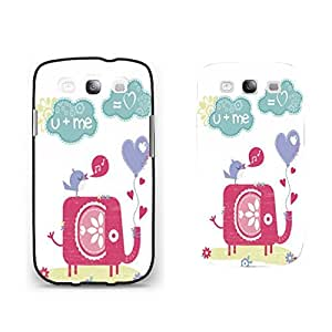 Cute Bird Sing Elephant Floral Design Samsung Galaxy S3 Animal Print Pattern Monogrammed Love Heart Balloon Hard Plastic Cell Phone Case Shell for Girls