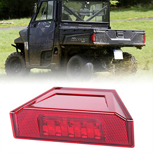 1 Pcs Rear Tail Light Assembly,New LED Brake Stop Lamp for 2013-2016 Polaris Ranger RGR Brutus 570 XP 900 1000 Replacement Part 2412774 Red-BUNKER INDUST (New Tail Light Lens)