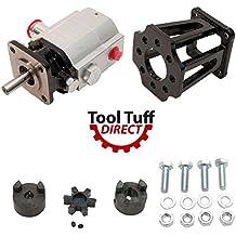"Tool-Tuff Log Splitter Build Kit: 13 GPM Pump, Coupler, Mount, Bolts, For Huskee, Speeco, etc or DIY Splitter Project (For 3/4"" Engine Crankshaft)"