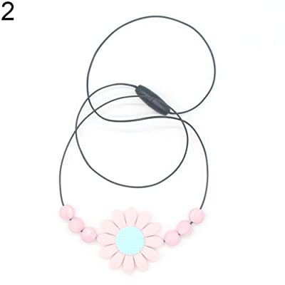 preliked Safe Lovely Sunflower Beads Silicone Pendant Necklace Chewing Teether Toy for Infant Baby : Baby
