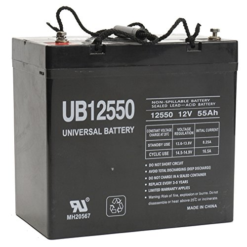 UB12550 12V 55AH Internal Thread Battery for Wagan Tech EL2546 e-Cube 1500