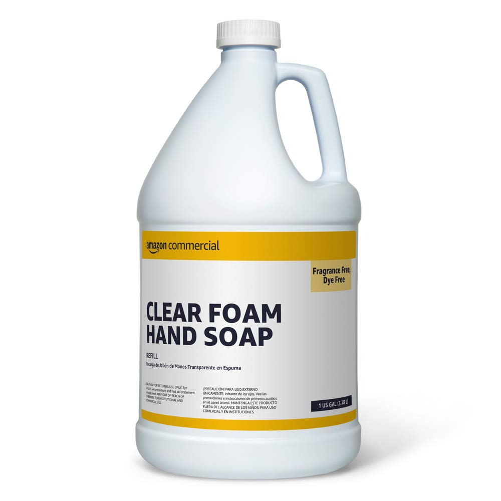 Commercial Clear Foam Hand Soap Refill, 1-Gallon, 2-Pack: Industrial & Scientific