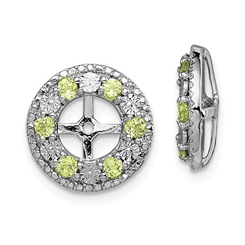 925 Sterling Silver Green Peridot Earrings Jacket Birthstone August Fine Jewelry Gifts For Women For Her
