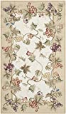 Safavieh Chelsea Collection HK117A Hand-Hooked Ivory and Beige Premium Wool Area Rug (2'9' x 4'9')