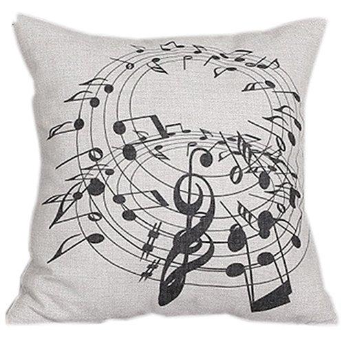 meizu88 cuadrado notas musicales Melody lino funda de cojín ...