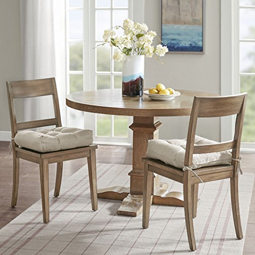 Ridge Madison (Madison Park Ridge Linen Square Chair Pad Pair Linen 16x16x4