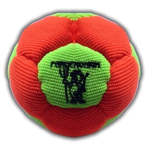 Virus, Synthetic Hemp Footbag 12 Panels Hacky Sack Bag Sand Filled