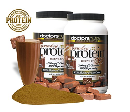 2 BOTTLE SAVINGS! Pure 100% Undenatured 100% Grass Fed Whey Protein Low Carb Low Fat Double Dutch Chocolate Flavor No with 1000 mg added L-Glutamine – 2 Lbs (Pack of 2)