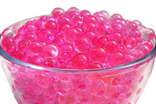"""SHEING Decoration Vase Filler - Transparent Reuseable Water Beads Gel - 11 Colors - Almost 5000PCS per pack,YOU are the """"designer"""" !!! (hot pink)"""