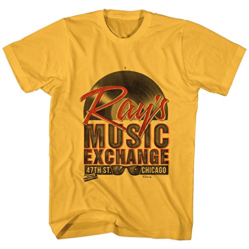 The Blues Brothers Ray's Music T-shirt, Gold, XL