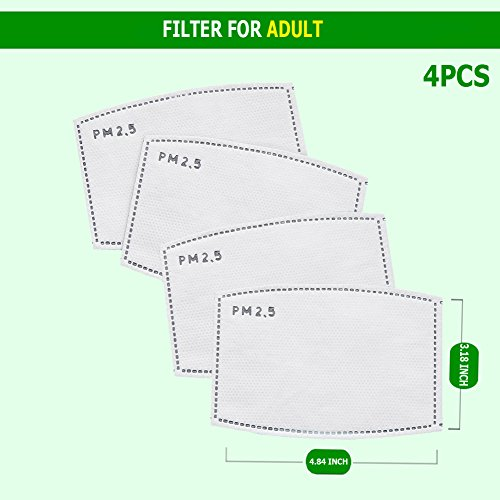 - PM2.5 Anti Pollution Mask Military Grade N99 Washable Dust Respirator Cotton Mouth Masks with Replaceable Filter for AdultChildren(Filters)