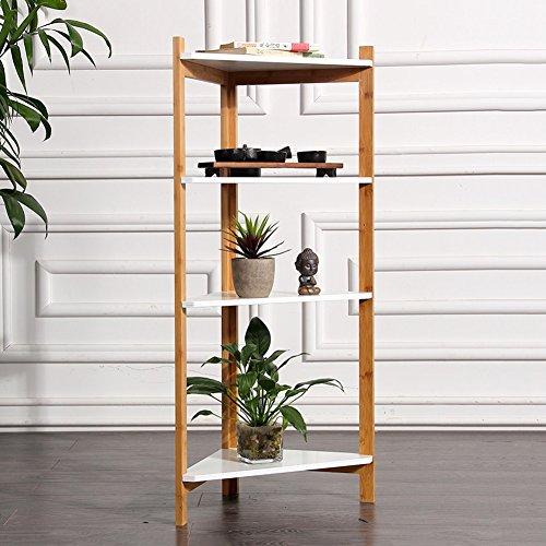 LIANGLIANG Bamboo Corner Flower Rack Pot Shelf Plant Ladder Floor Display Stand Simple Bedroom Living Room Indoor, 343499cm