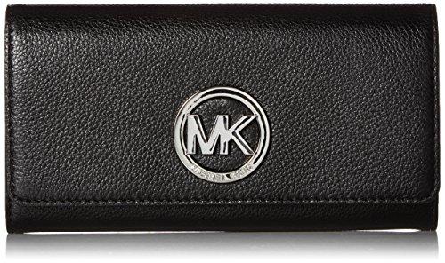 Michael Kors New Black Silver Fulton Carryall Wallet OSFA $1