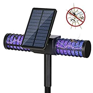 L mpara anti mosquitos homecube l mpara solar mata insectos el ctrico l mpara 4 led uv solar - Lamparas anti insectos ...